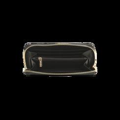 Portafoglio nero in ecopelle vernice con 10 vani, Borse, 125709023VENEROUNI, 004 preview