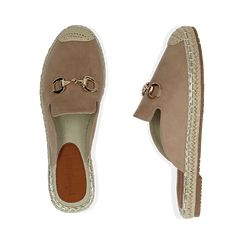 Slippers beige in microfibra, Chaussures, 154951159MFBEIG035, 003 preview