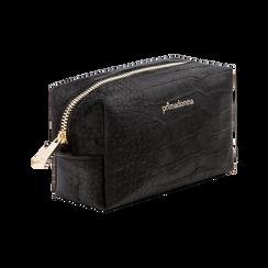 Trousse nera in velluto, Primadonna, 125921682VLNEROUNI, 003 preview
