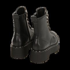 Bottines noir, platform 5,5 cm, Primadonna, 160622521EPNERO035, 004 preview