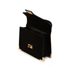 Mini bag nera in microfibra, Primadonna, 155122533MFNEROUNI, 004 preview