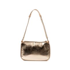 Borsa a tracolla oro in eco-pelle laminata, Primadonna, 155127201LMOROGUNI, 003 preview