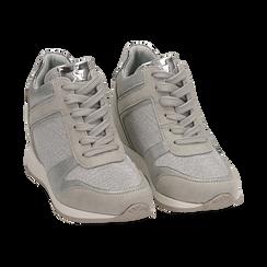Baskets à paillettes dorées et argentées, Chaussures, 152821522GLARGE037, 002 preview