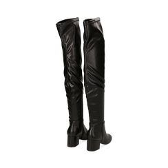 Stivali overknee neri in microfibra, tacco 6,50 cm , Primadonna, 164911283EPNERO035, 003 preview