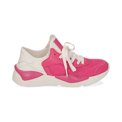 Dad shoes en tejido tecnico color fuxia, Zapatos, 15F609059TSFUCS036, 001 preview