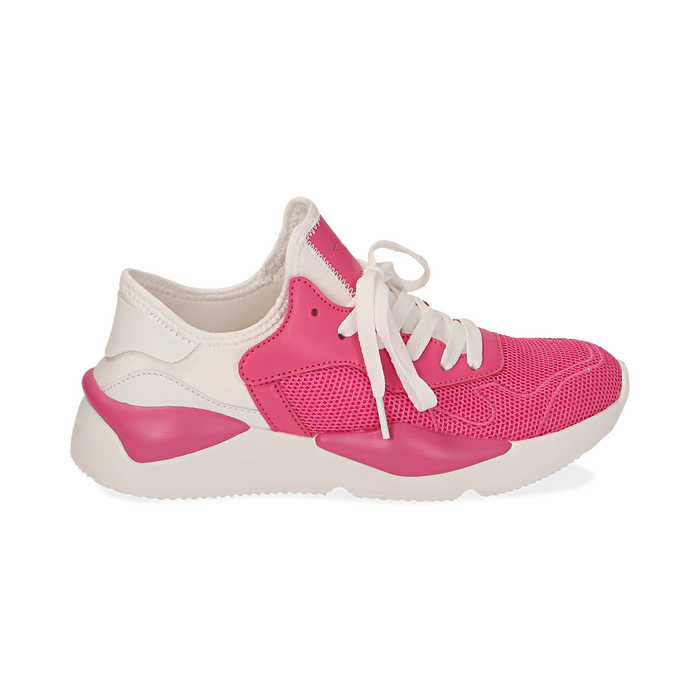 Dad shoes en tejido tecnico color fuxia, Zapatos, 15F609059TSFUCS036