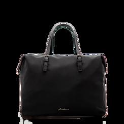 Borsa Maxi-Bag a mano nera in tessuto, Primadonna, 122300313TSNEROUNI, 001a