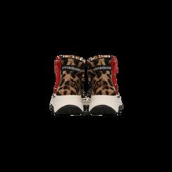 Sneakers leopard in lycra con zip, Scarpe, 12A783210LYLEOP, 003 preview
