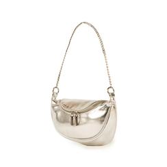 Petit sac argenté en simili-cuir brillant, Sacs, 155122722LMARGEUNI, 004 preview
