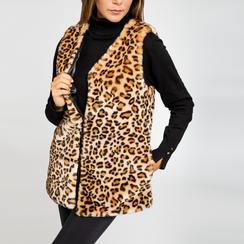 Smanicato di Pelliccia Leopardata, Abbigliamento, 12B400303FULEOP, 004 preview