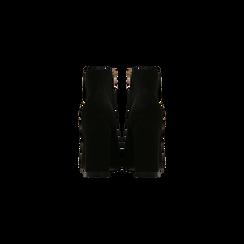 Tronchetti neri con punta stondata, tacco 10 cm, Scarpe, 122196916MFNERO040, 003 preview