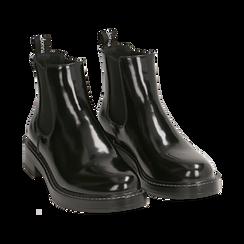 Chelsea boots neri abrasivati , Primadonna, 160685073ABNERO037, 002 preview