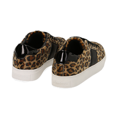 Sneakers leopard marroni in eco-pelle, Scarpe, 142619071CVLEMA036, 004 preview