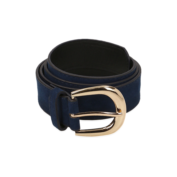 Cintura blu in microfibra, Abbigliamento, 144045701MFBLUEUNI