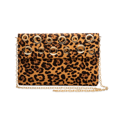 Pochette bustina leopard in microfibra con oblò dorati, Primadonna, 123308604MFLEOPUNI, 003 preview