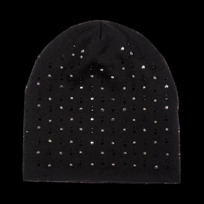 Berretto invernale nero in tessuto con strass, Saldi Abbigliamento, 12B490741TSNERO3XL
