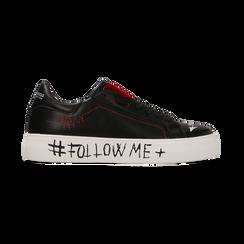 Sneakers nere con suola #followme, Scarpe, 122619062EPNERO, 001 preview