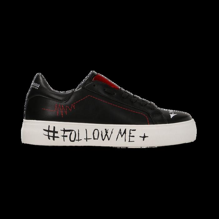 Sneakers nere con suola #followme, Scarpe, 122619062EPNERO