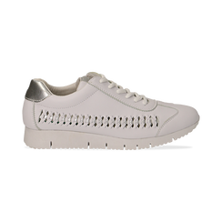 Sneakers bianche in eco-pelle , Scarpe, 130609571EPBIAN036, 001 preview