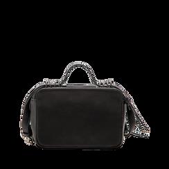 Camera bag con tracolla nera in ecopelle, Saldi, 122440791EPNEROUNI, 002 preview