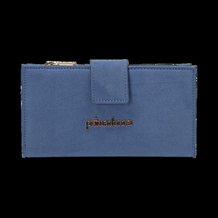 Portafogli azzurro in microfibra, Borse, 155122158MFAZZUUNI