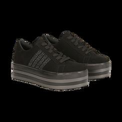 Sneakers nere suola platform multistrato, Primadonna, 122818575MFNERO035, 002 preview