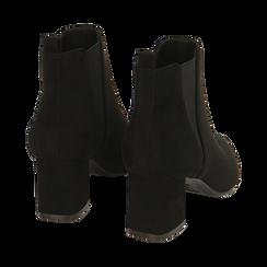 Ankle boots neri in microfibra, tacco 6 cm , Primadonna, 164931531MFNERO036, 004 preview
