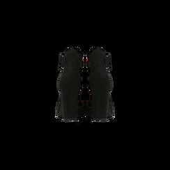 Décolleté nere con maxi cinturino, tacco 9 cm, Scarpe, 124895575MFNERO, 003 preview