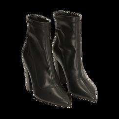Ankle boots neri, tacco 9 cm , Primadonna, 164823107EPNERO035, 002 preview