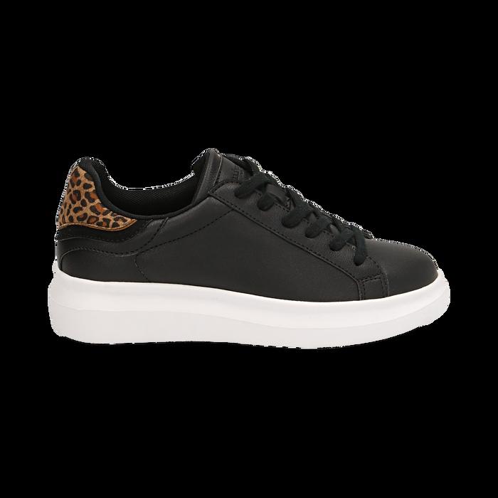 Sneakers nero/leopard , Primadonna, 162602011EPNELE036