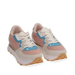 Sneakers rosa in tessuto tecnico , Primadonna, 177519601TSROSA035, 002a