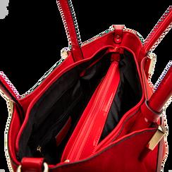 Maxi-bag a spalla rossa in microfibra scamosciata, Saldi, 125702033MFROSSUNI, 004 preview