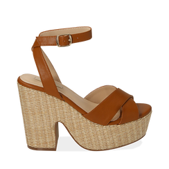 WOMEN SHOES WEDGE ECO-LEATHER CUOI, Zapatos, 154935671EPCUOI037, 001a