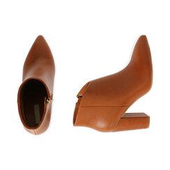 Ankle boots cognac, tacco 9,5 cm , Primadonna, 174916101EPCOGN037, 003 preview
