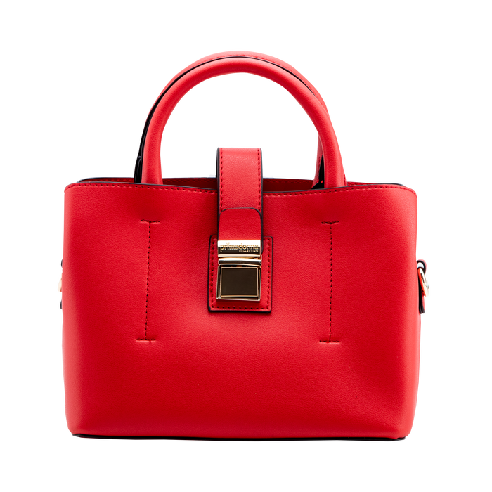 Mini bag rossa in ecopelle con tracolla a bandoliera, Borse, 122429139EPROSSUNI