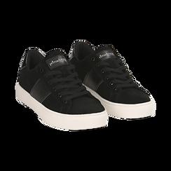 Sneakers nere in microfibra, Scarpe, 142619071MFNERO035, 002 preview