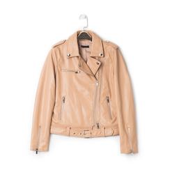 Biker jacket nude in eco-pelle, Primadonna, 136500779EPNUDEL, 001a