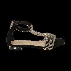WOMEN SHOES FLAT MICROFIBER NERO, Zapatos, 152130898MFNERO036, 001 preview