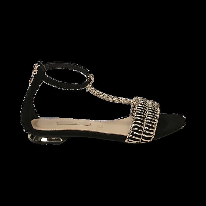 WOMEN SHOES FLAT MICROFIBER NERO, Zapatos, 152130898MFNERO036