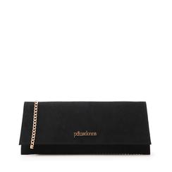 Pochette piatta nera in microfibra, Borse, 145122509MFNEROUNI, 001a
