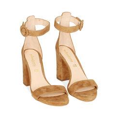 Sandali ruggine in camoscio, tacco 8,5 cm, Primadonna, 15D600501CMRUGG036, 002 preview