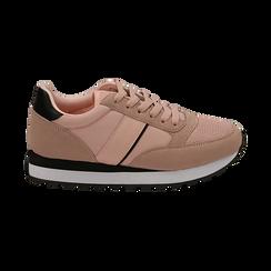 Sneakers nude in tessuto tecnico, Primadonna, 162619079TSNUDE035, 001 preview