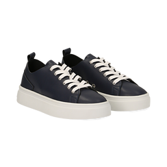Sneakers blu in eco-pelle, Scarpe, 132500778EPBLUE036, 002 preview