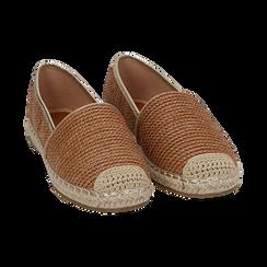 Espadrillas cuoio in rafia, Zapatos, 154902099RFCUOI036, 002 preview