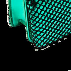 Pochette verde a rete in ecopelle effetto specchio, Primadonna, 123308810SPVERDUNI, 004 preview