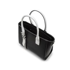 Borsa grande nera in eco-pelle con borchie, Borse, 131900944EPNEROUNI, 004 preview