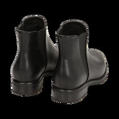 Chelsea boots neri, tacco 4 cm , Primadonna, 160621678EPNERO037, 004 preview
