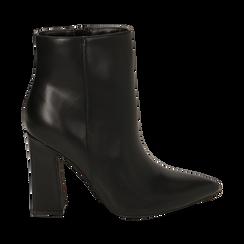 Ankle boots neri, tacco 10 cm , 164822754EPNERO036, 001a