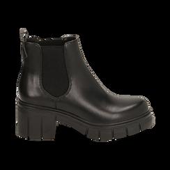 Chelsea boots neri, tacco 5 cm , Primadonna, 160621171EPNERO038, 001 preview