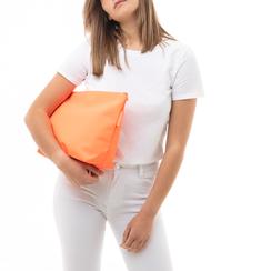 Pochette mare fluo arancio in tessuto , Primadonna, 133322281TSARANUNI, 002a